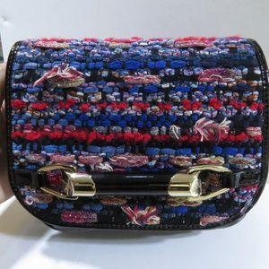 Jimmy Choo Woven Zadie Crossbody Bag.